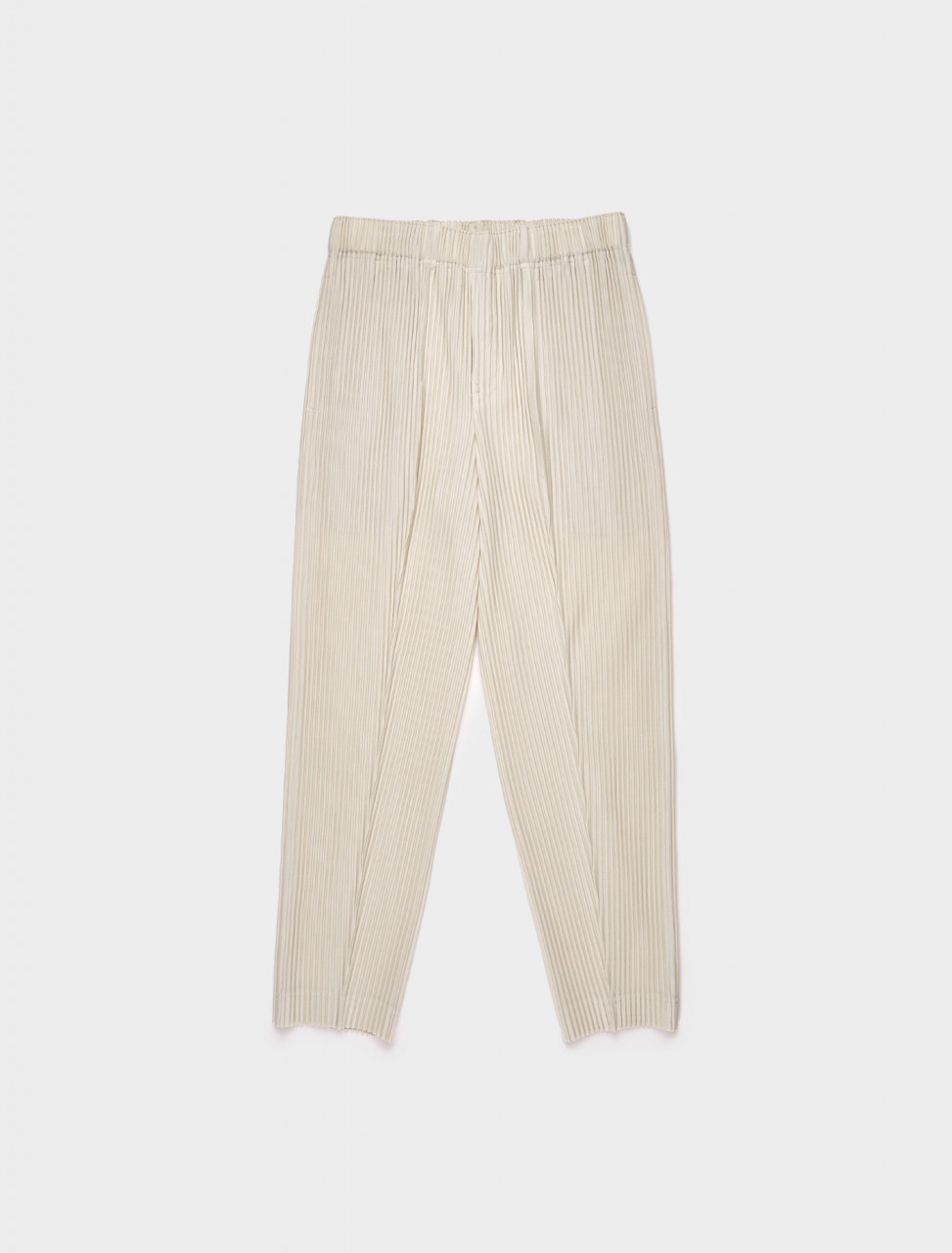 HP08JF135-03 ISSEY MIYAKE HOMME PLISSE PLEATED TROUSER IVORY