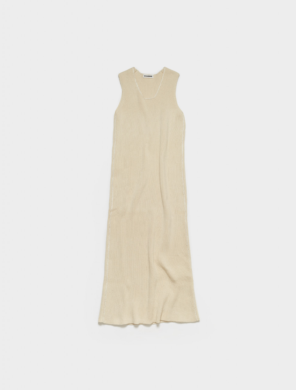 JSPS751066-WSY25058-105 JIL SANDER LONG KNIT DRESS BEIGE