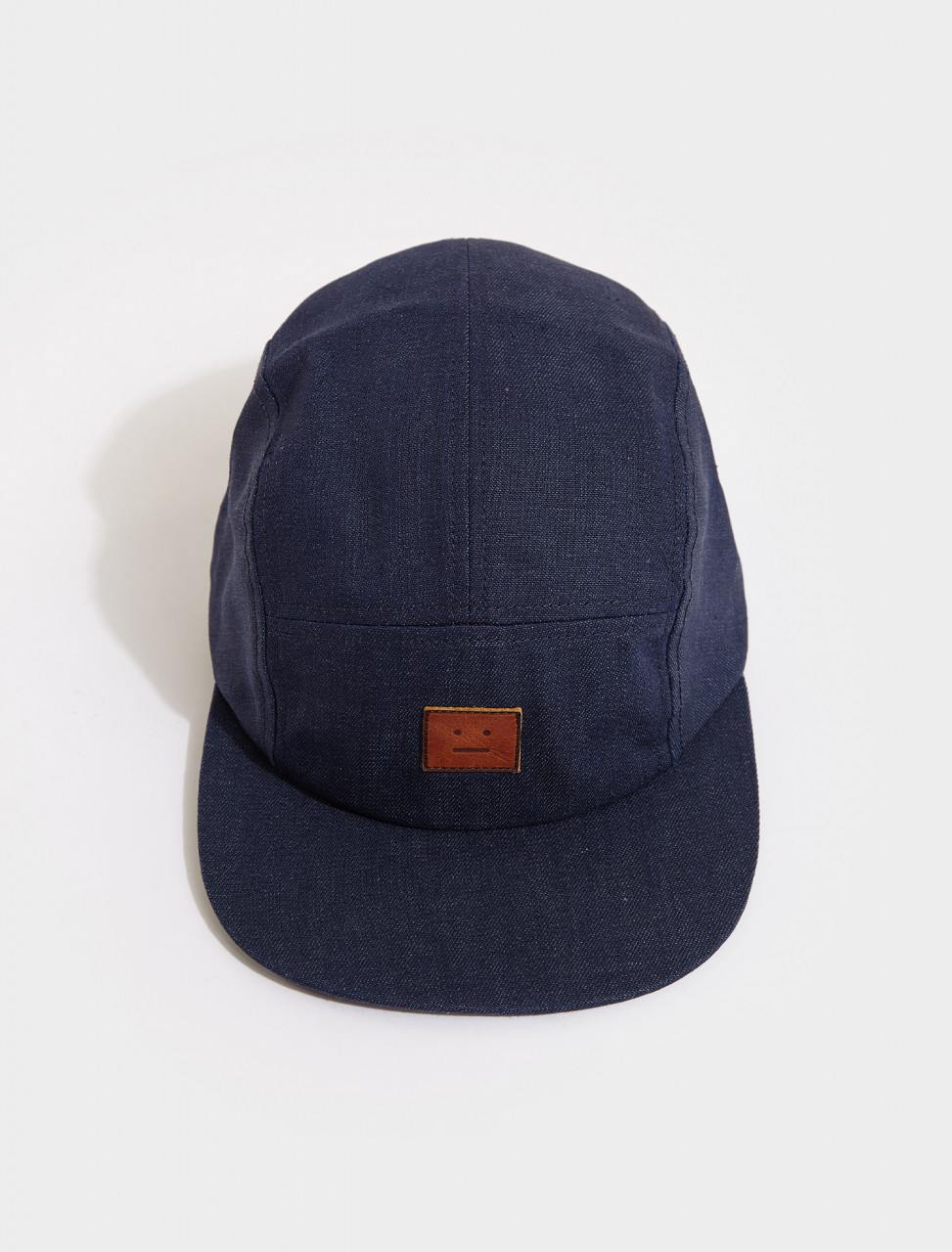 C40125-135 ACNE STUDIOS CRUNN DENIM FACE CAP INDIGO BLUE