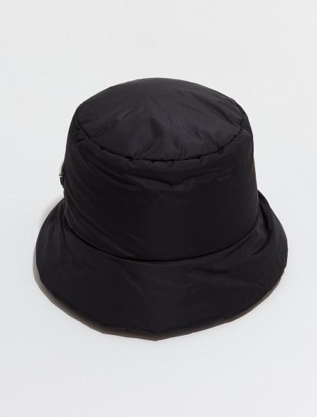 2HC248_2DV4_F0002 PRADA RE NYLON HAT IN BLACK