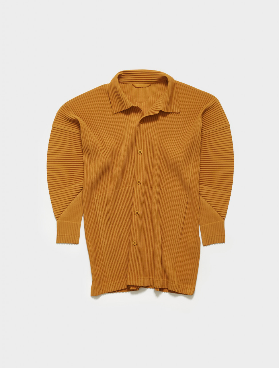 HP16JJ120-55 HOMME PLISSE ISSEY MIYAKE Pleated Shirt in Yellow Ochre