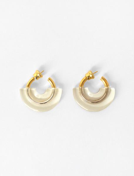 Mini Resin Hoop Earrings