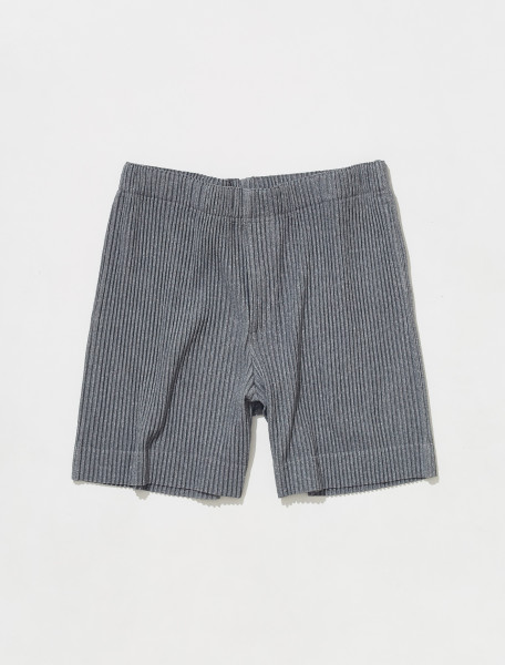 HP18JF142 12 HOMME PLISSÉ ISSEY MIYAKE PLEATED SHORTS IN GREY