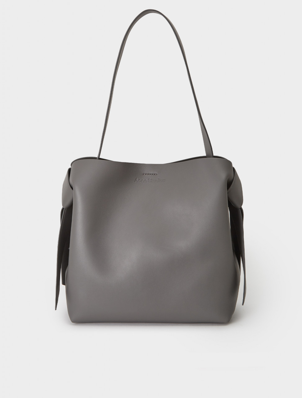 A10100-AA3 ACNE STUDIOS MEDIUM LEATHER HANDBAG DARK GREY