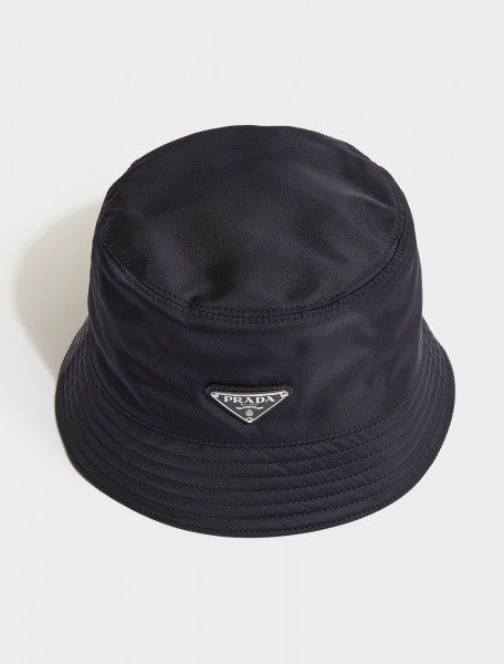 2HC137-F0008 PRADA NYLON BUCKET HAT IN BLUE