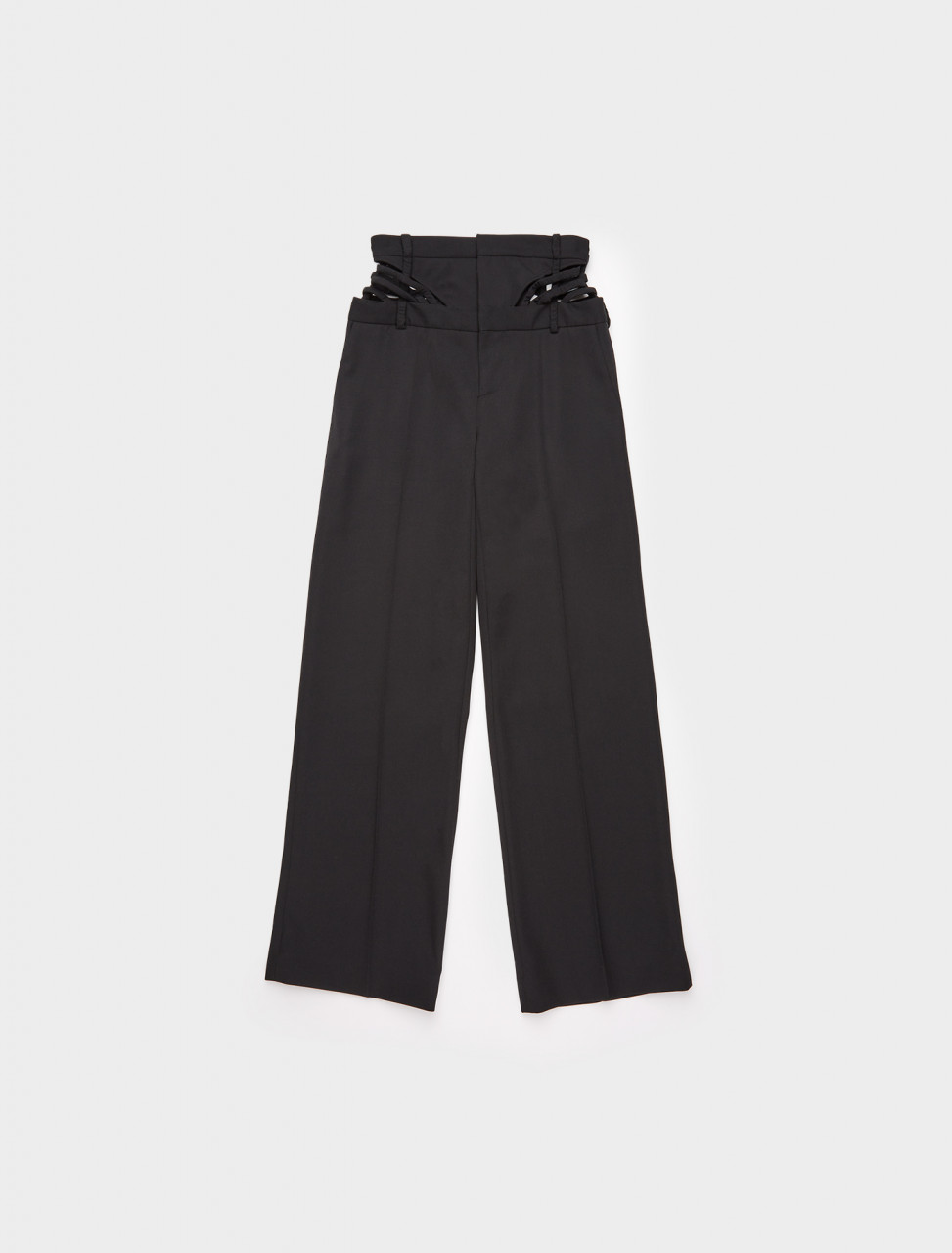 213-WPANT62-S19-F17 Y PROJECT WAIST STRAP TROUSERS BLACK