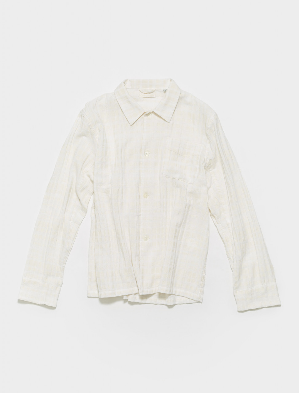 M2212BSW OUR LEGACY BOX SHIRT IN WHITE BEIGE CHECK