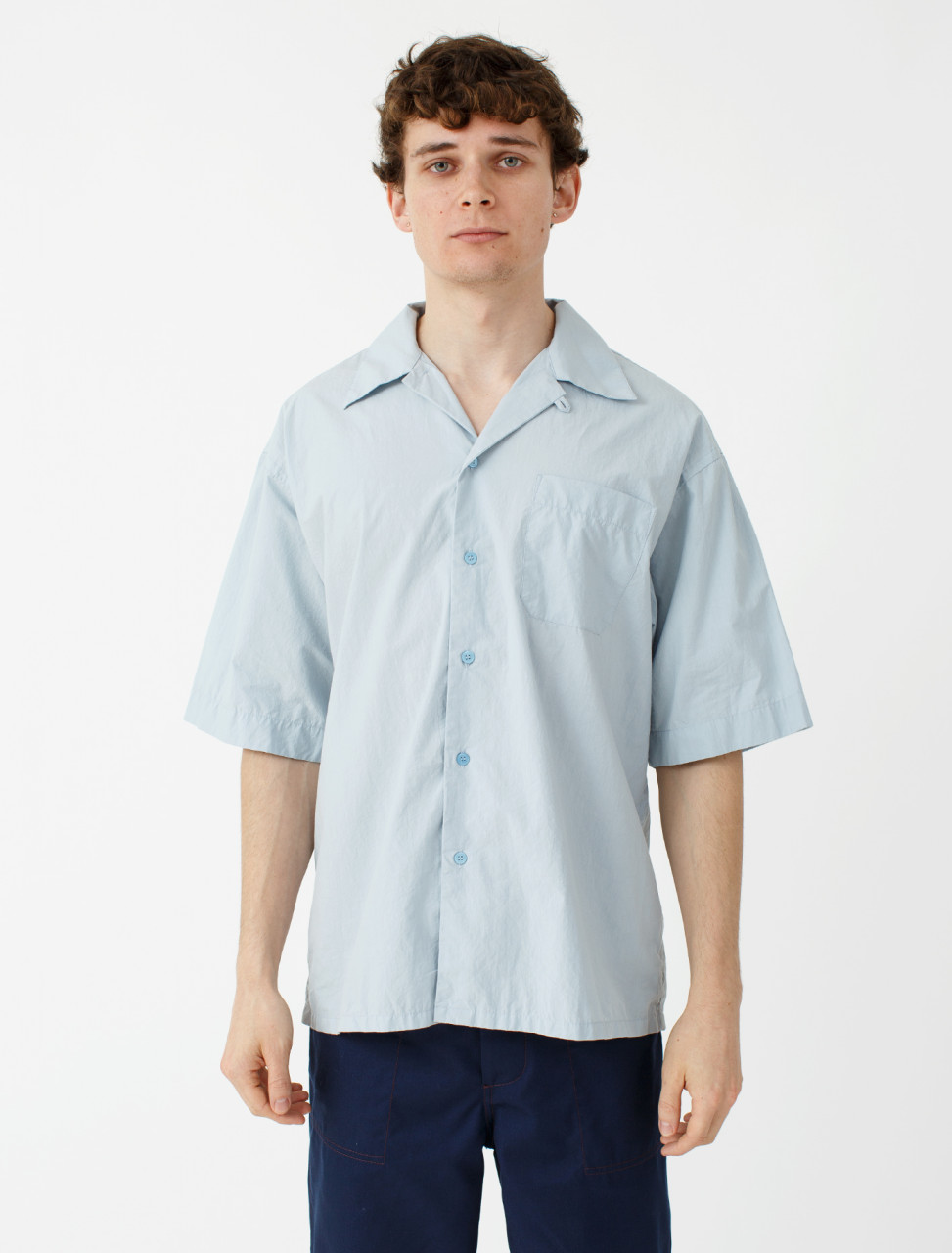 Camp Collar Shirt in Light Blue