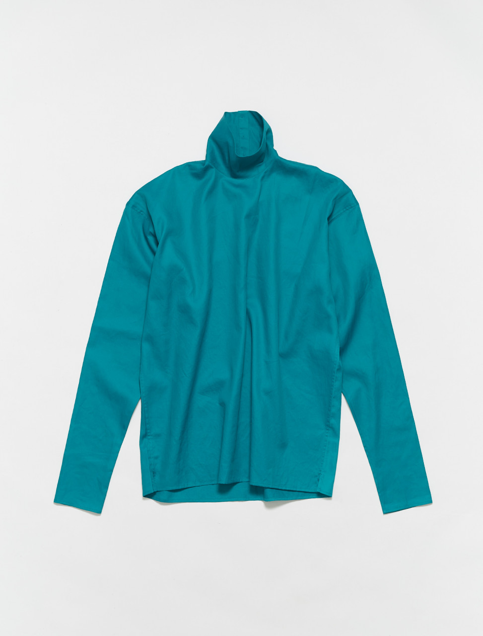 W-211-TO292-LF560-664 LEMAIRE HIGHNECK SECOND SKIN IN DEEP LAKE GREEN