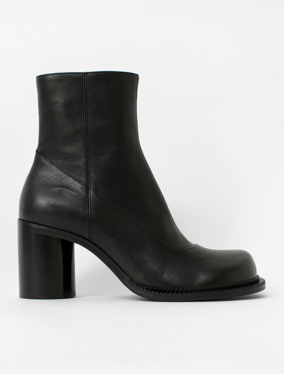 Rounded Toe Ankle Boot
