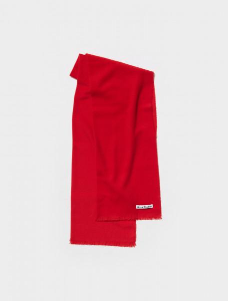 CA0150 ACK FN UX SCAR000165 ACNE STUDIOS VERNON SCARF IN RED