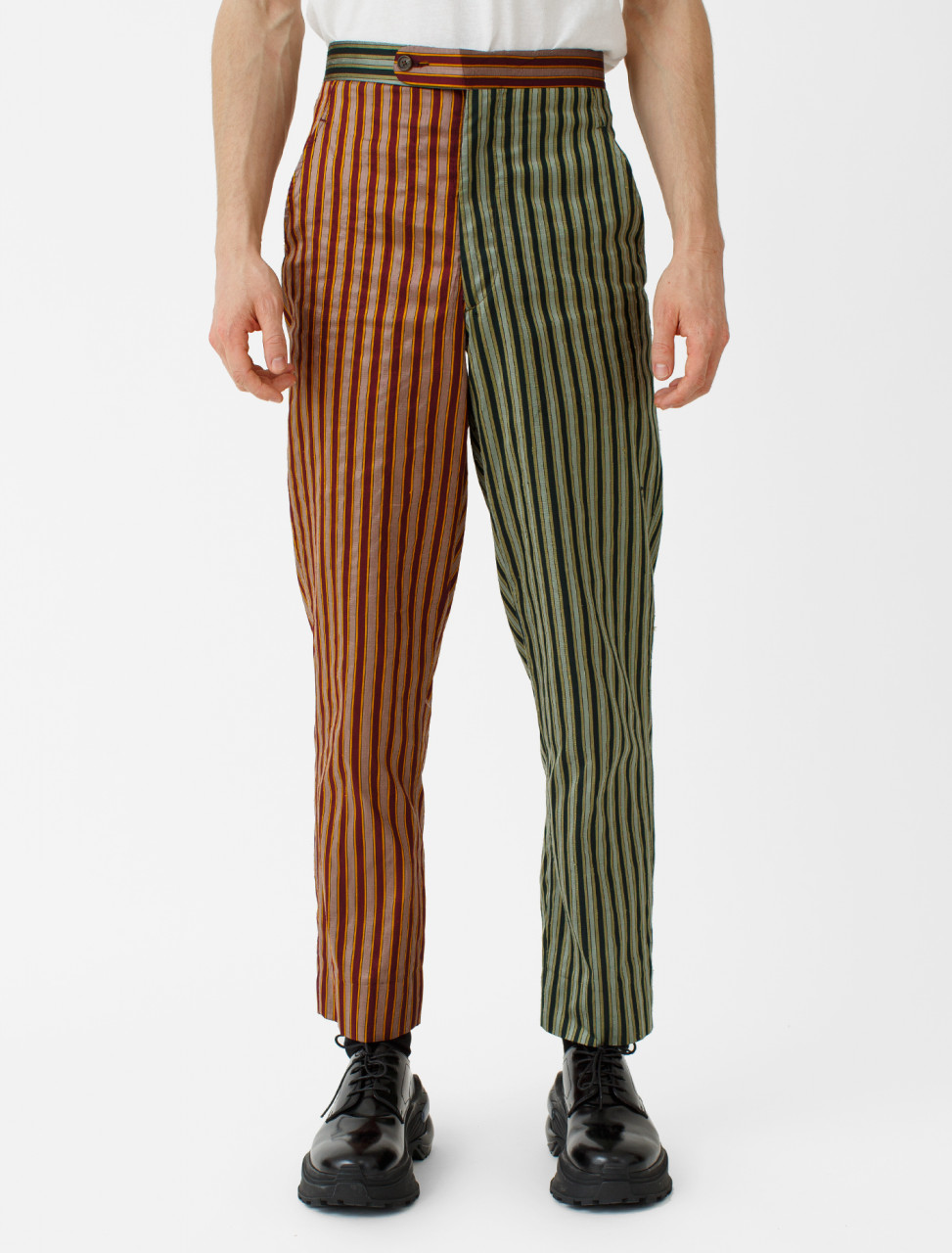 Duo Tone Silk Stripe Trouser