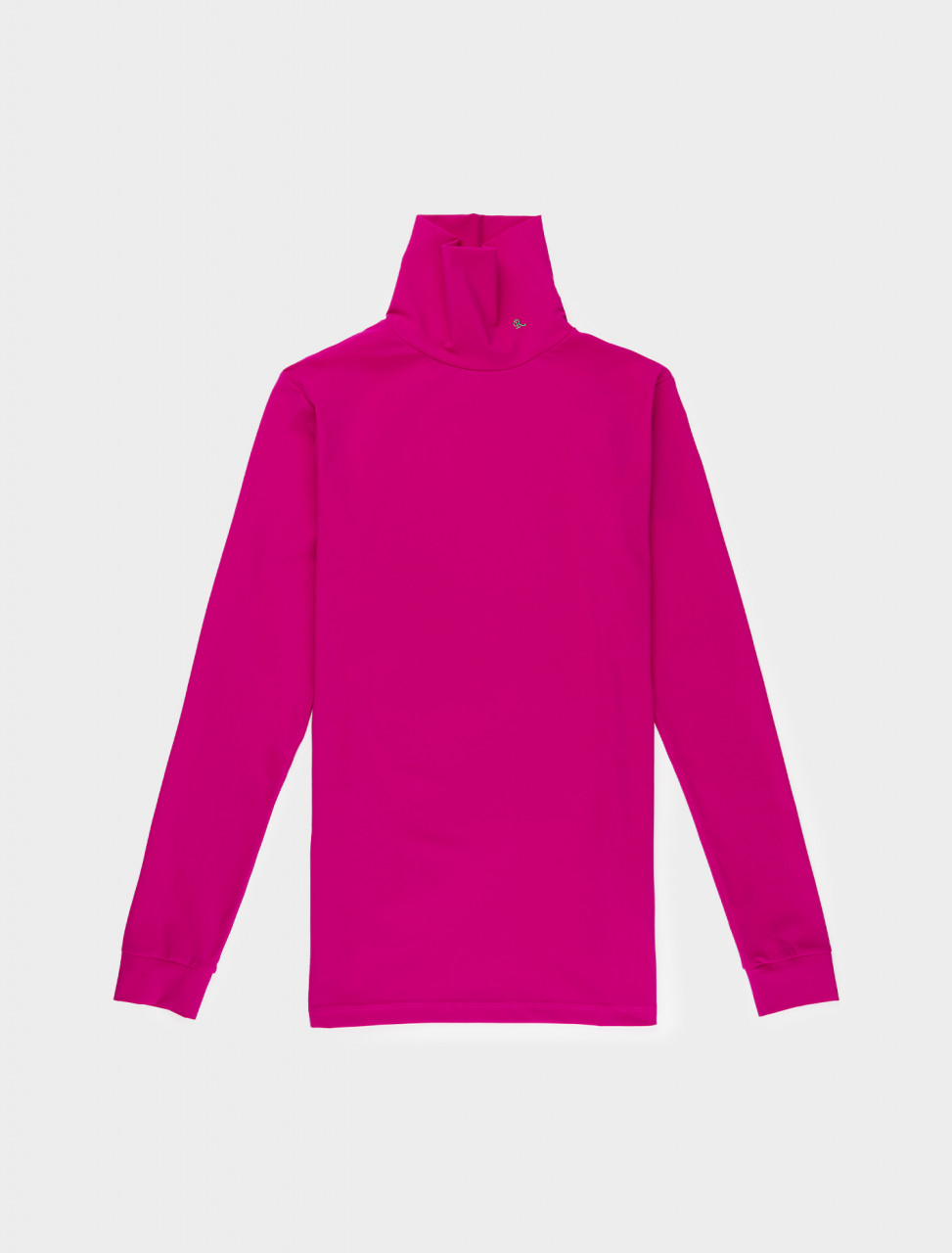 162-202-151-19016-00033 RAF SIMONS SOUS PULL W STANDING UP COLLAR NEON PINK
