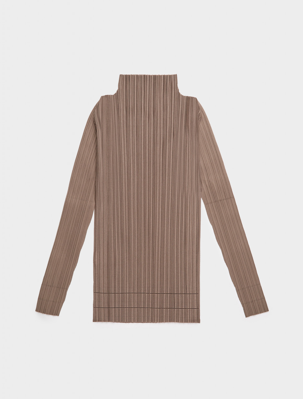 PP08JK856-16 PLEATS PLEASE ISSEY MIYAKE HIGH NECK A POC PLEATS TOP BROWN