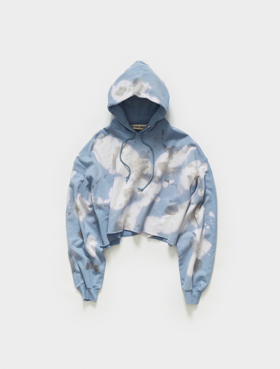 SS21SW03BC OTTOLINGER OTTO HOODIE CROPPED IN BLUE CLOUD