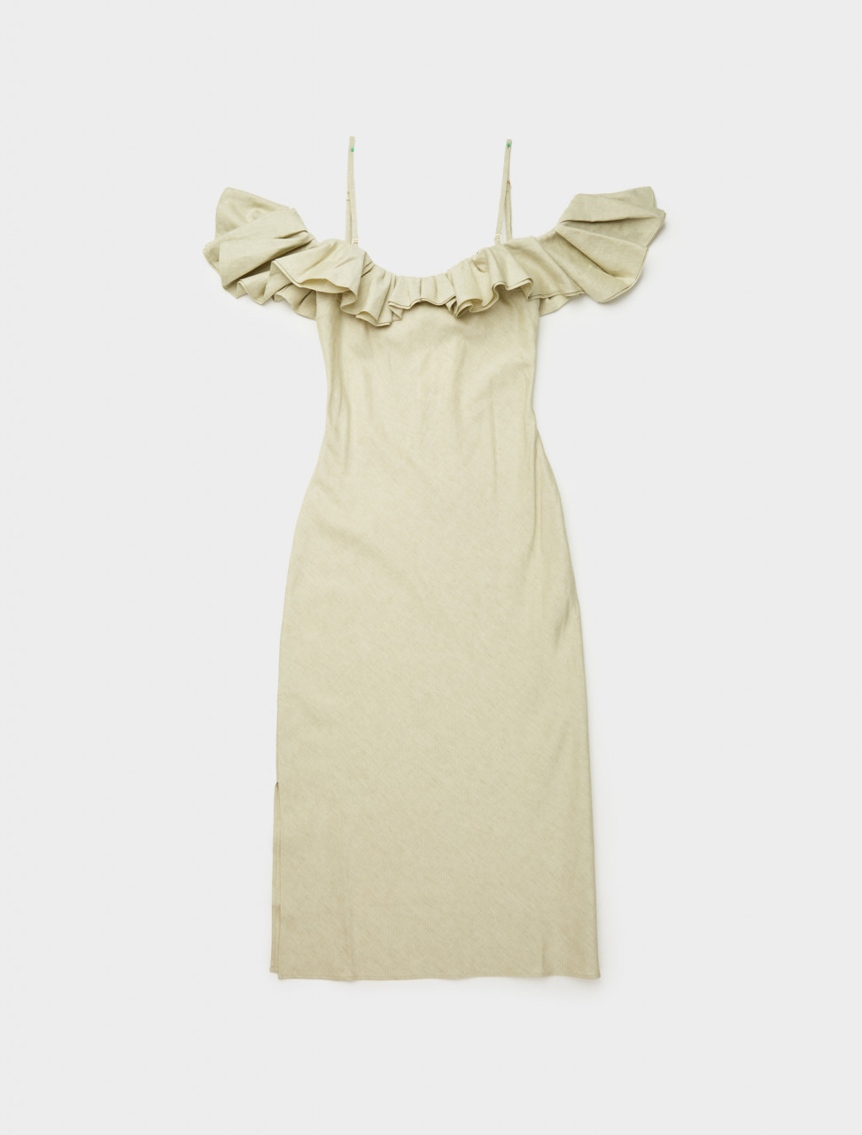 203DR01-203-128540 JACQUEMUS LA ROBE PAMPELONNE IN LIGHT GREEN FRONT