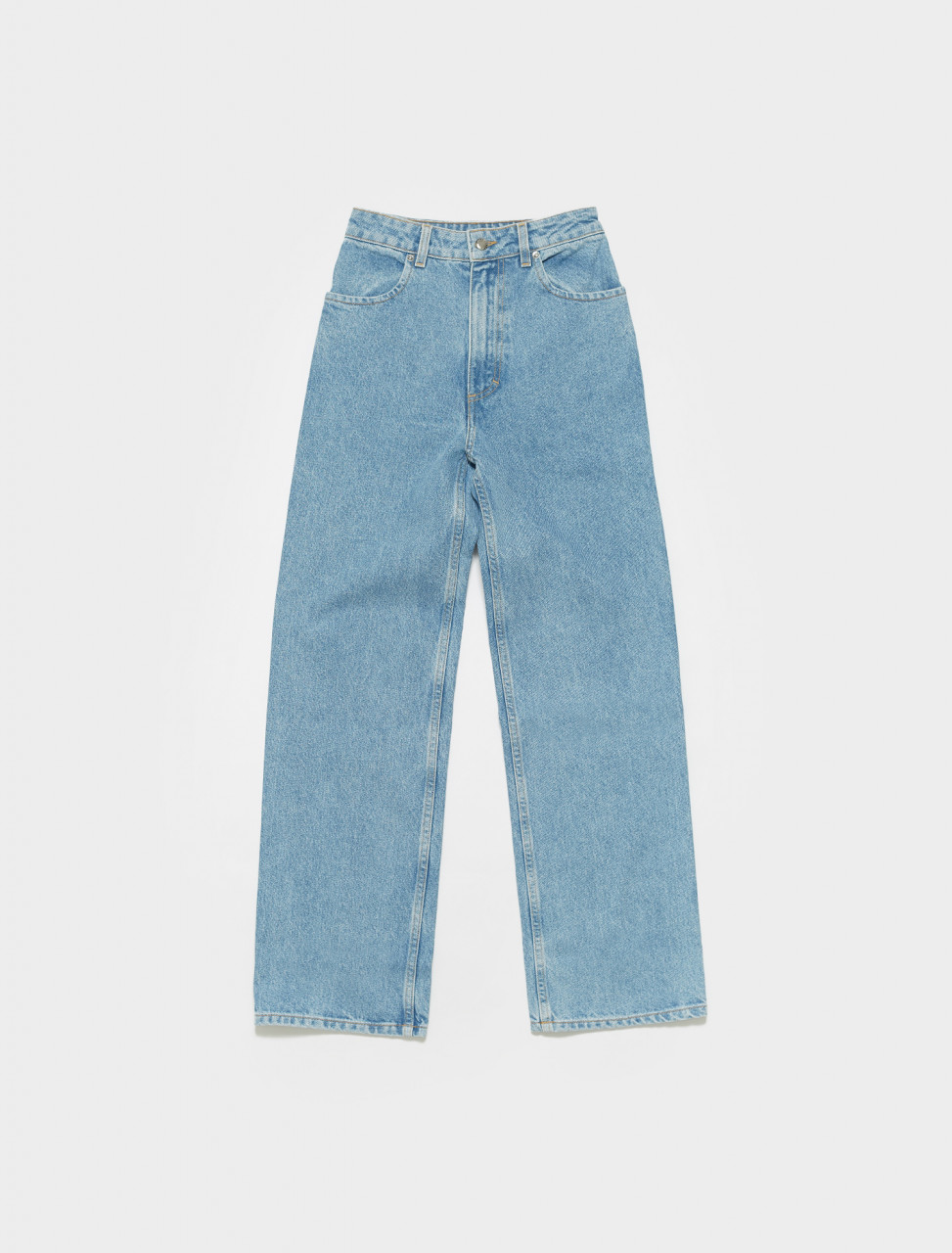 334-EL-CORE-TB ECKHAUS LATTA WIDE LEG JEAN IN TRUE BLUE