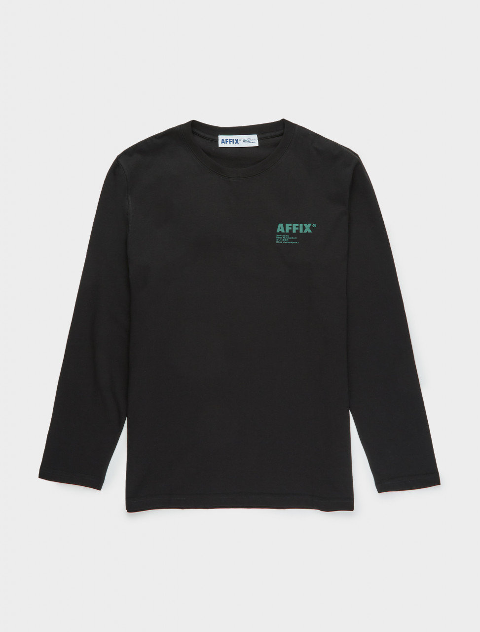 347-AW20TS01-B AFFIX Standardised Logo Long Sleeve T-Shirt in Black