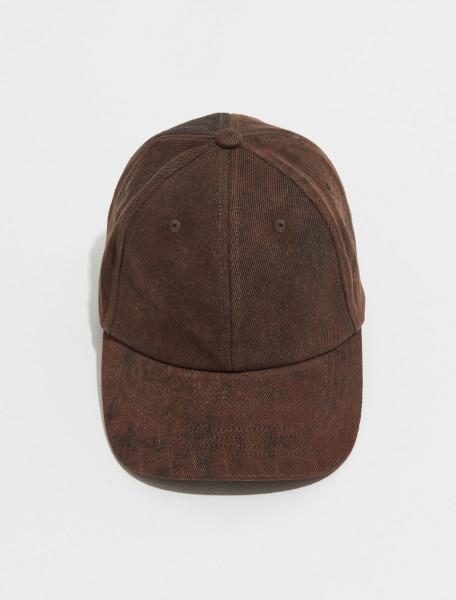 212 029502 3382 703 DRIES VAN NOTEN GILES CAP IN BROWN