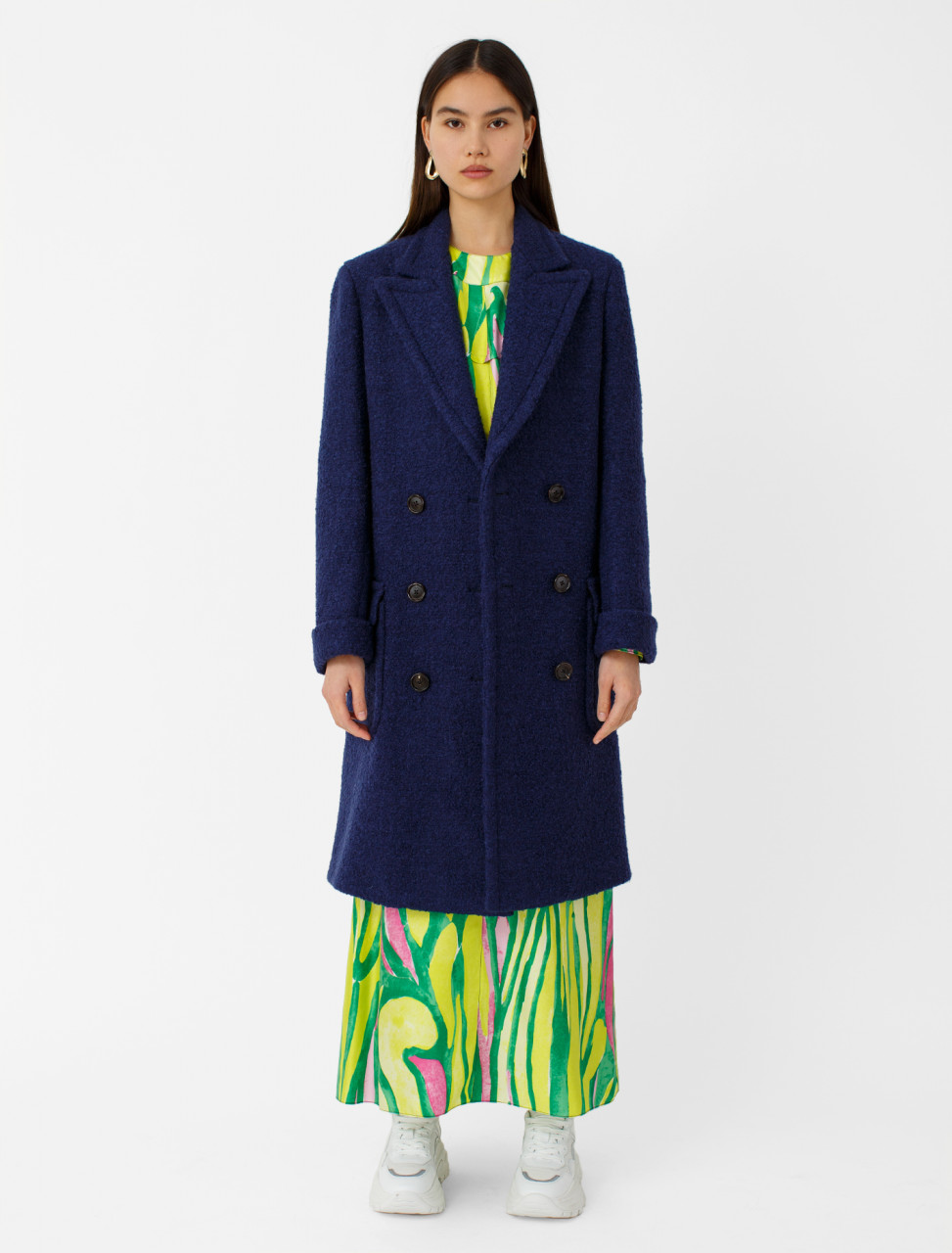 Felted Wool Bouclé Coat