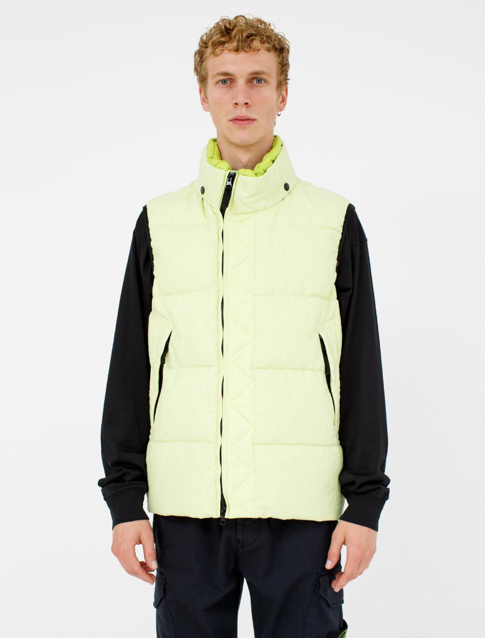 Sleeveless Down Jacket in Pistachio