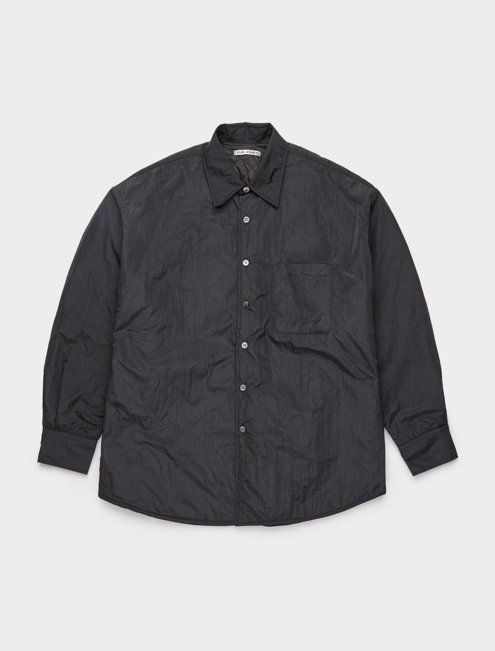 150-M4192TP OUR LEGACY TECH BORROWED JACKET BLACK