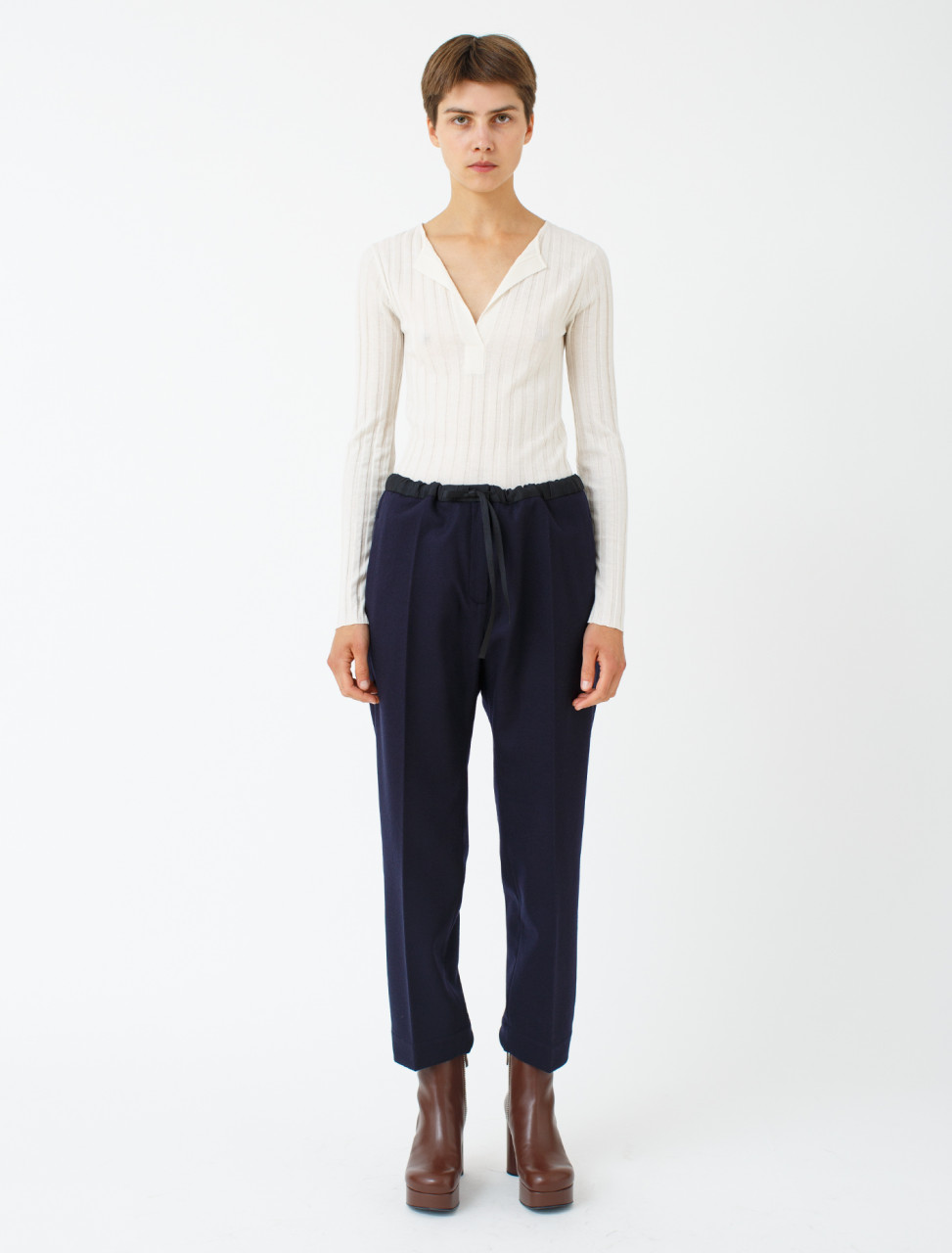 Cropped Drawstring Trouser