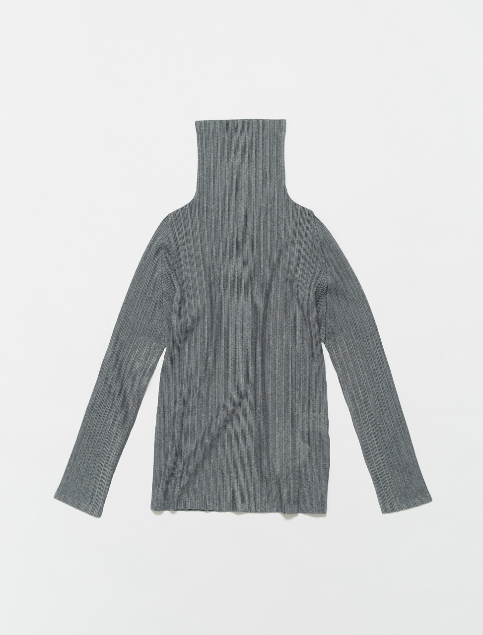 PP16FK114-16 PLEATS PLEASE ISSEY MIYAKE HIGH NECK TOP GREY