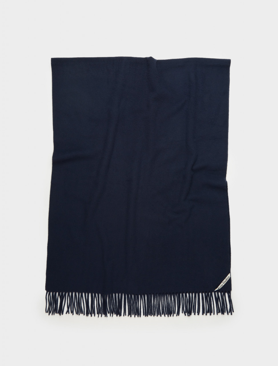 110-271176-8850 ACNE STUDIOS CANADA OVERSIZED WOOL SCARF NAVY BLUE