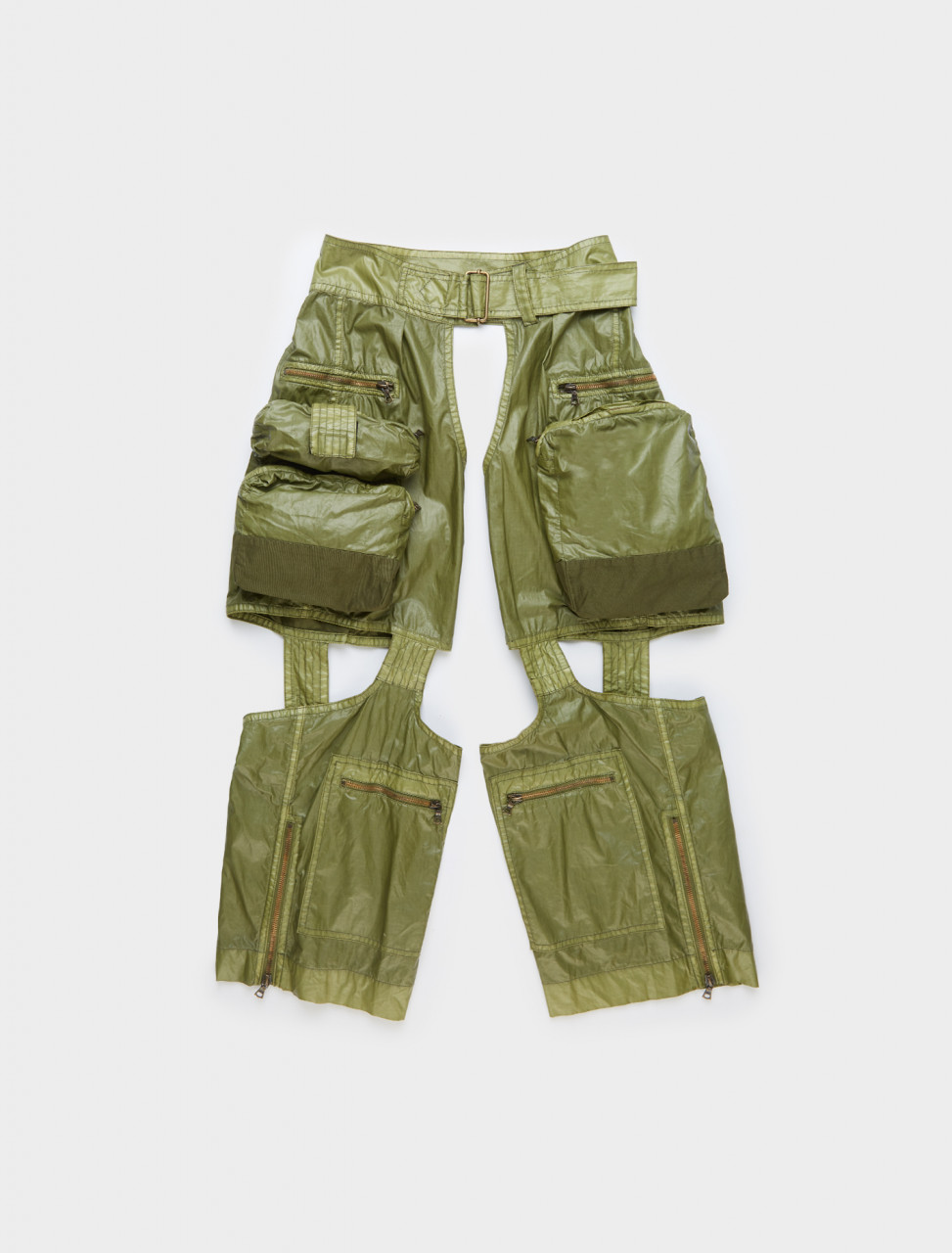 Dries van Noten Paco Chaps with Pockets in Khaki Front
