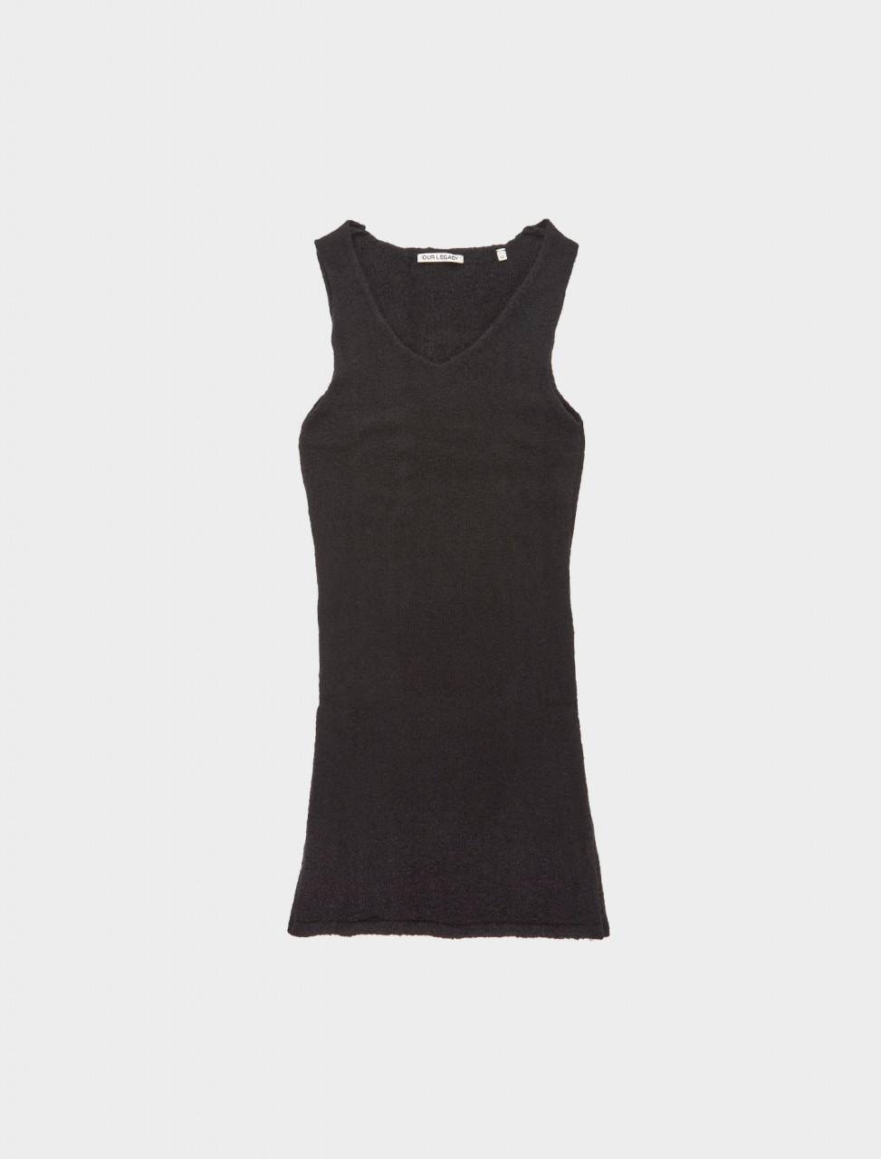 150-W4203TB OUR LEGACY TANK KNIT DRESS BLACK