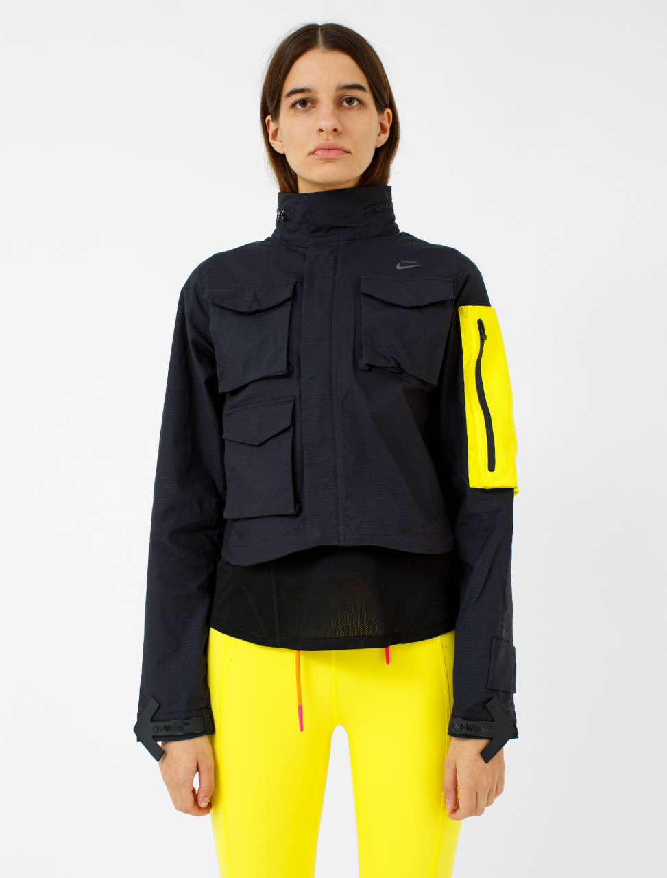 x Off-White Running Jacket with Packable Hood