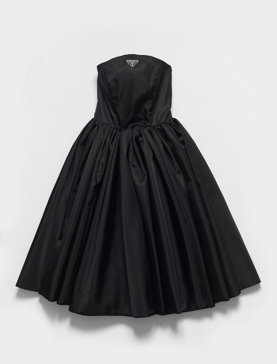 230647-F0002 PRADA RE NYLON CORSET DRESS IN BLACK
