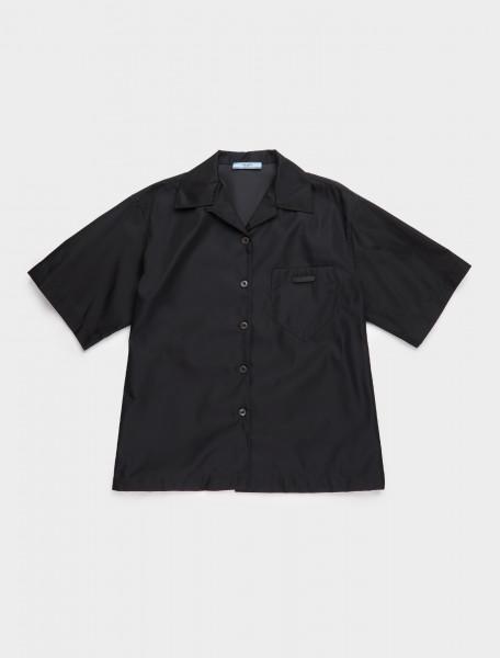 240691-F0002 PRADA RE NYLON SHIRT BLACK
