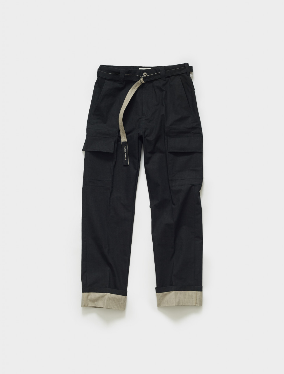 CGSS21CWOTRS06 CRAIG GREEN CARGO TROUSER IN BLACK