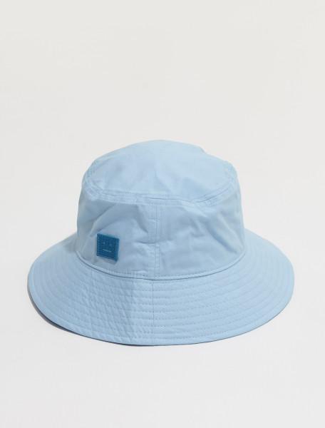 C40170 228 FA UX HATS000104 ACNE STUDIOS BUKO LIGHT TWILL FACE BUCKET HAT IN LIGHT BLUE