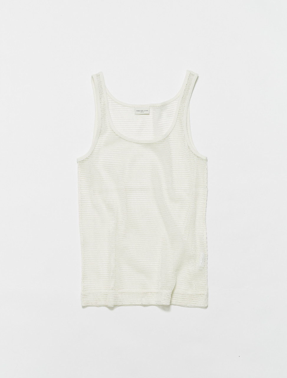 211-21127-2616-001 DRIES VAN NOTEN HALK SHEER TANK IN WHITE