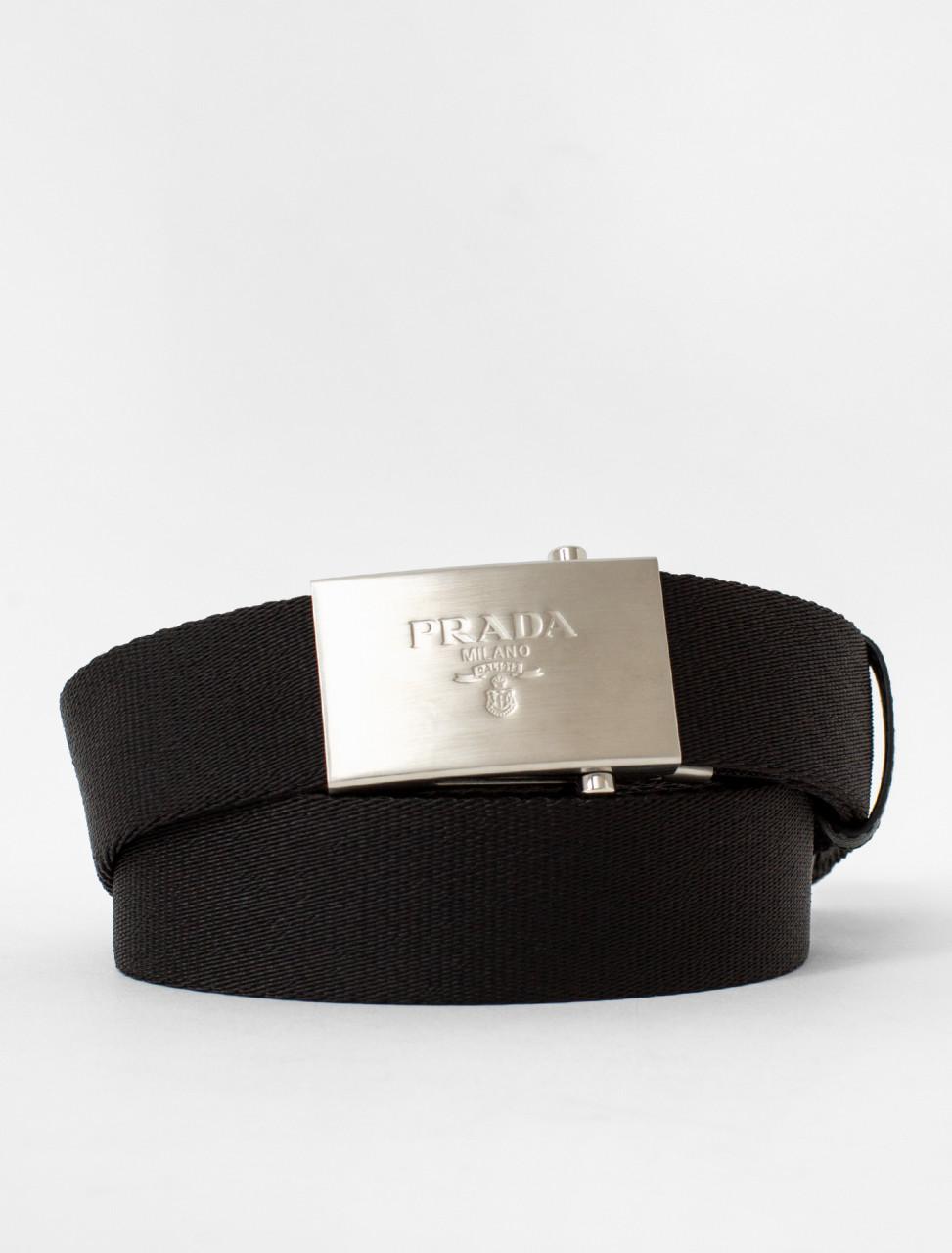Prada Woven Fabric Belt
