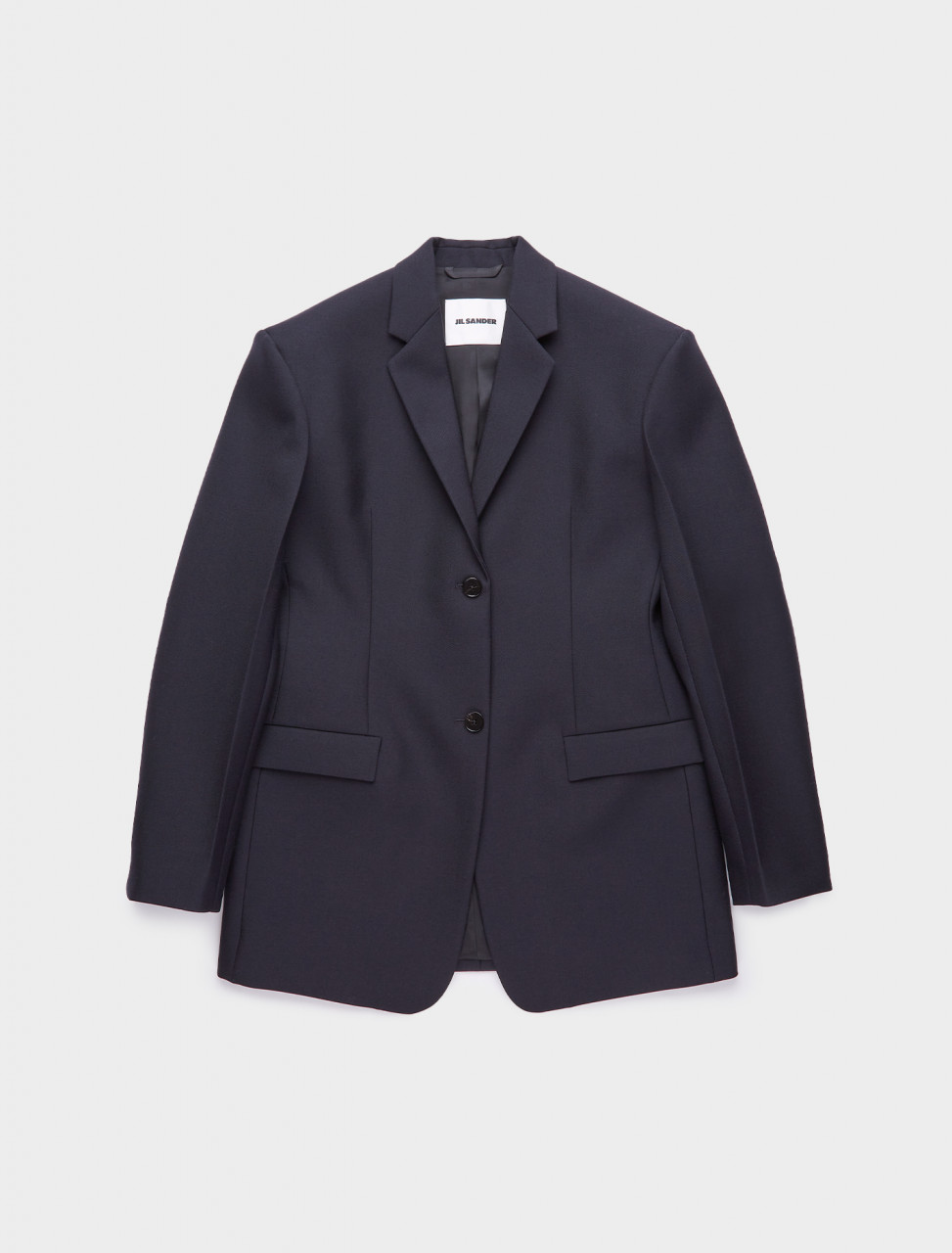 130-JSWR135910-WR201000-402 JIL SANDER OVERSIZED TWO BUTTON BLAZER DARK BLUE