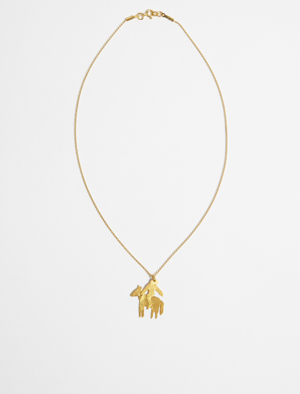 1000734 APRES SKI JINETE B CHEVALIER CHARM NECKLACE IN GOLD