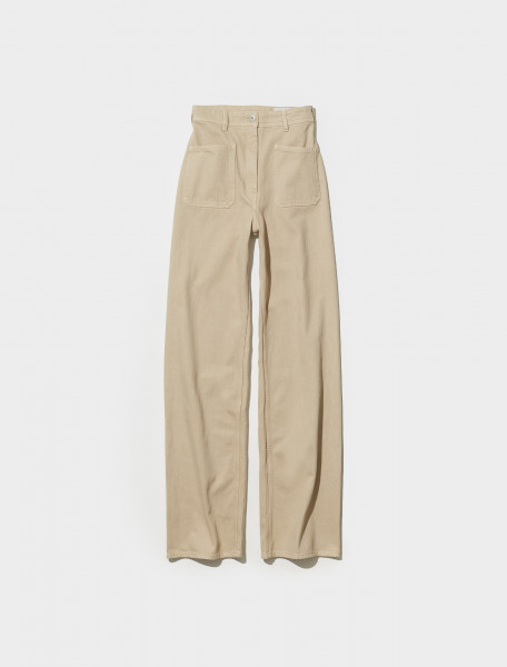 W 213 PA412 LD034 217 LEMAIRE DENIM SAILOR TROUSERS IN SALTPETER