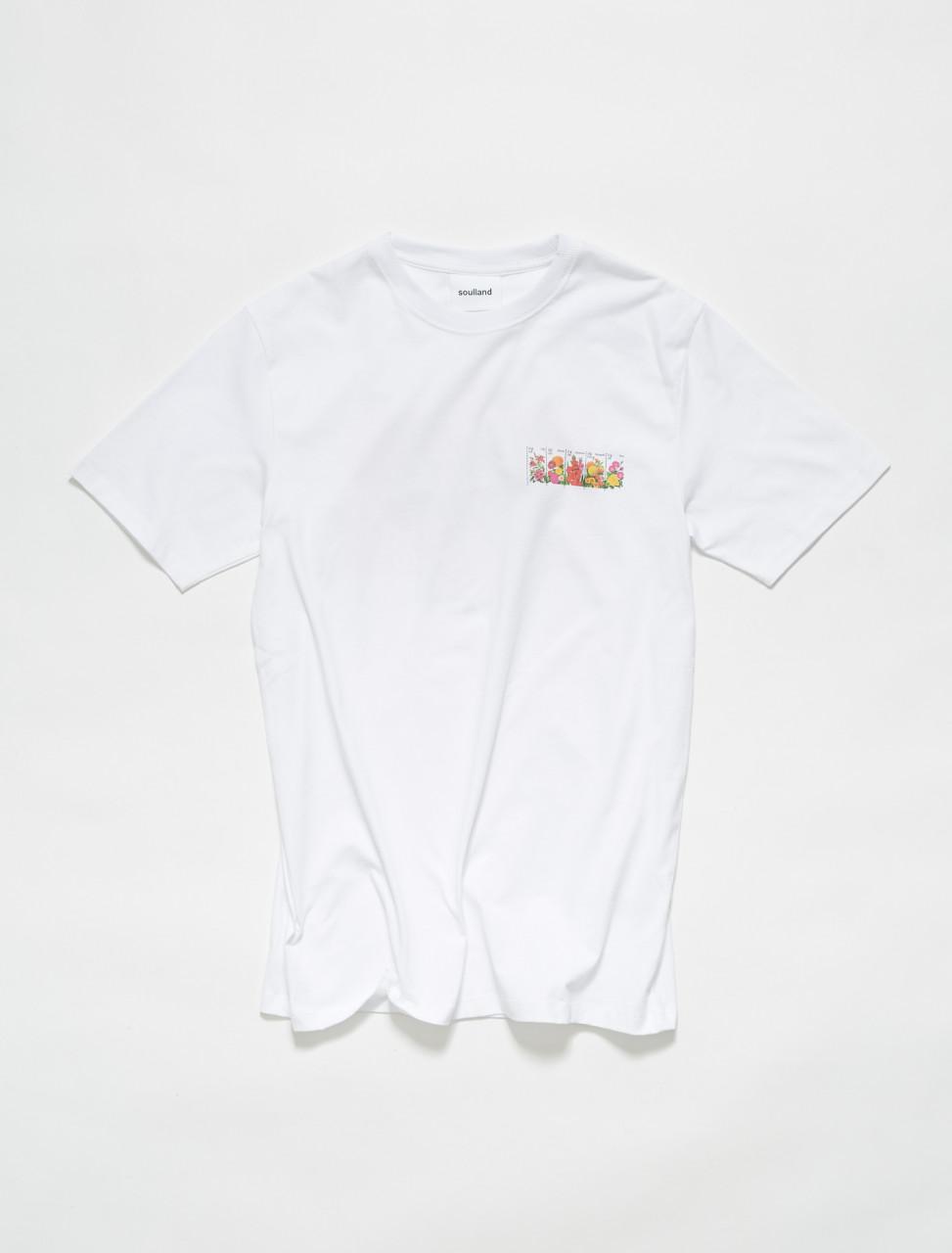 159-1000-W SOULLAND BODEGA ROSE ROSSELL T SHIRT WHITE
