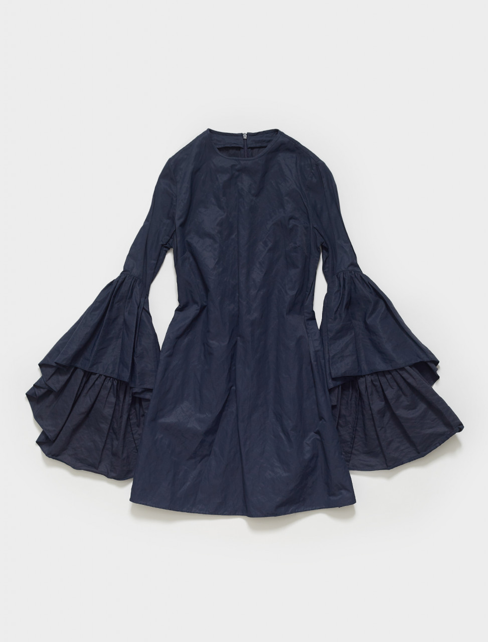 138-RST18DR0042TFT MARQUES ALMEIDA OYSTER SLEEVE DRESS IN NAVY