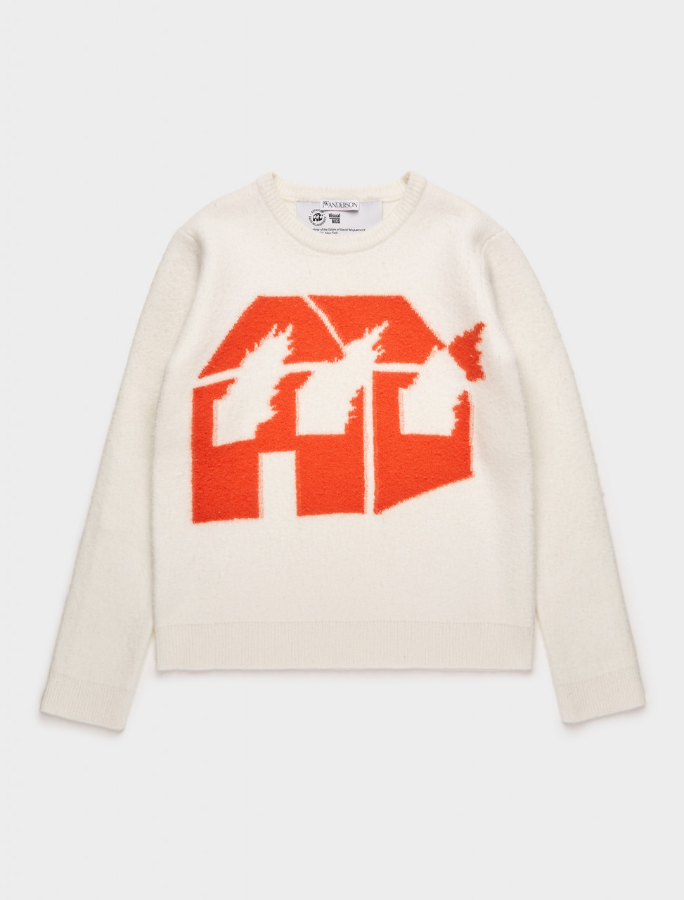179-KW0322-YN0057-456 JW ANDERSON DAVID WOJNAROWICZ BURNING HOUSE JUMPER