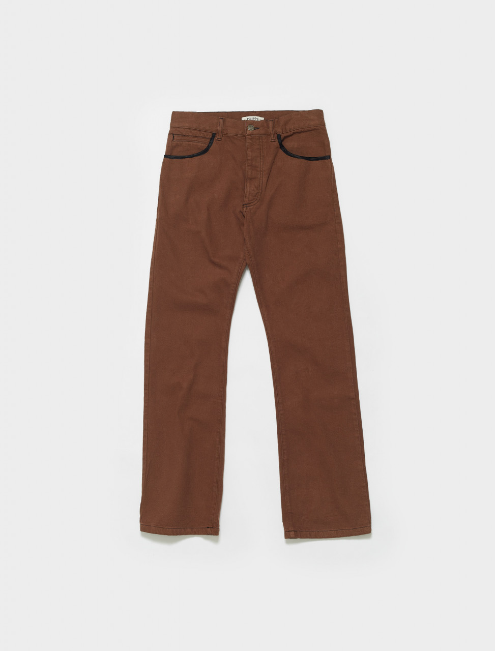 PHSS21-P18-C005 PHIPPS BOOT CUT JEANS SADDLE BROWN