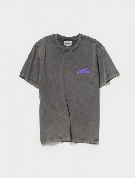 AW21TS05 WASHED BLACK CARNE BOLLENTE LUST BOUND T SHIRT IN WASHED BLACK