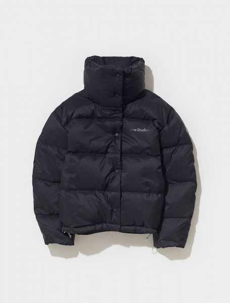 A90366 900 FN WN OUTW000480 ACNE STUDIOS OLIMERA RIPSTOP PUFFER IN BLACK