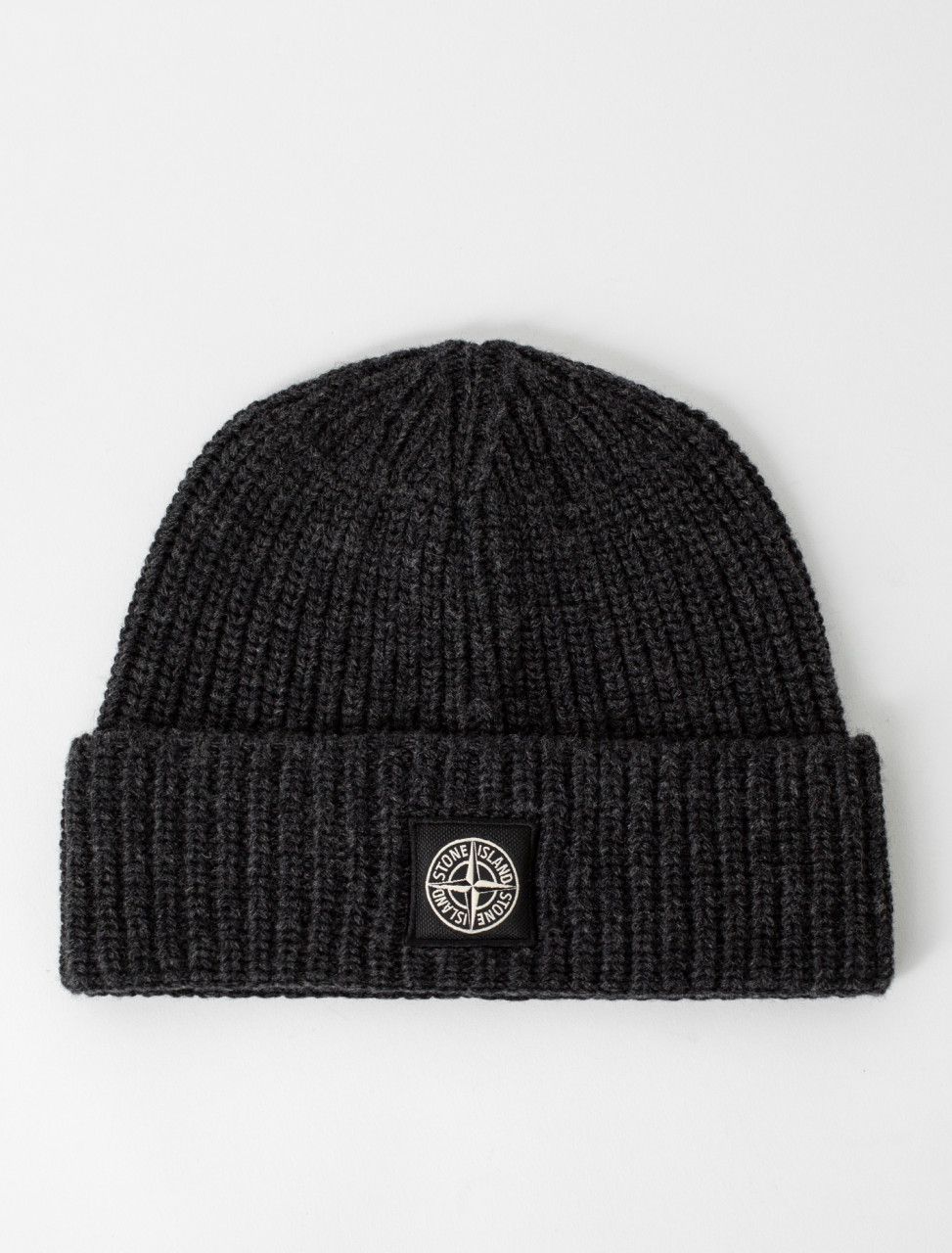 Knitted Beanie in Charcoal