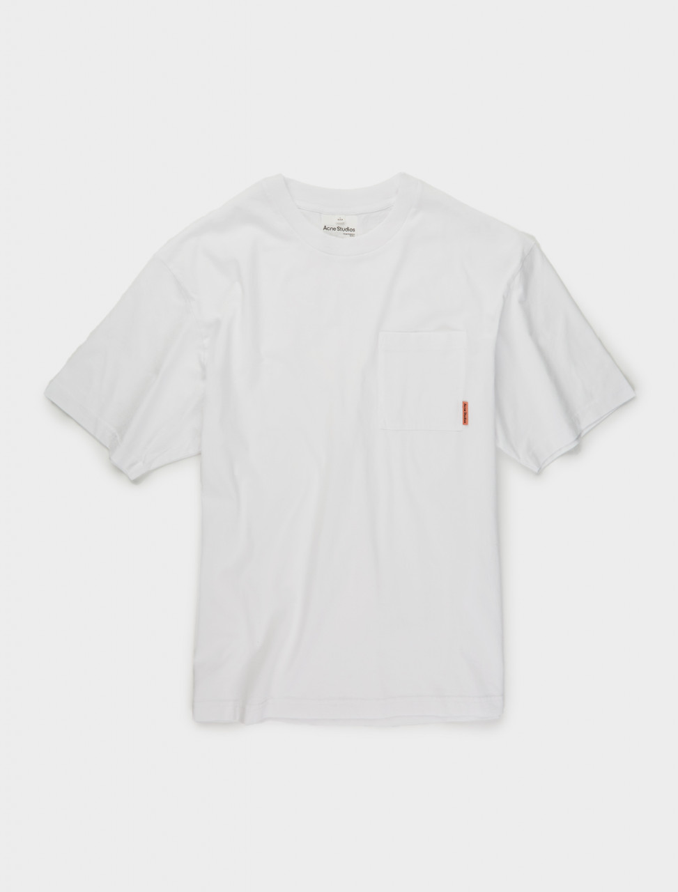 110-BL0214-183 ACNE STUDIOS PATCH POCKET TSHIRT IN OPTIC WHITE
