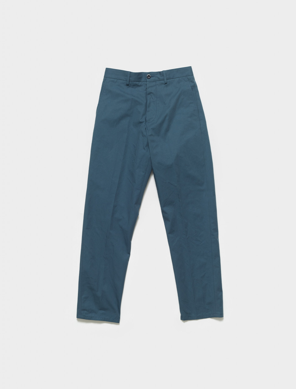 S50KA0542 MAISON MARGIELA COTTON CANVAS TROUSERS IN STEEL BLUE